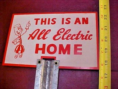 All Electric Home  Embossed Sign with Willie Wiredhand Mascot
