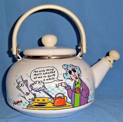 "HALLMARK MAXINE  Tea Pot ""The only thing that's whistled at me in quite a while"""