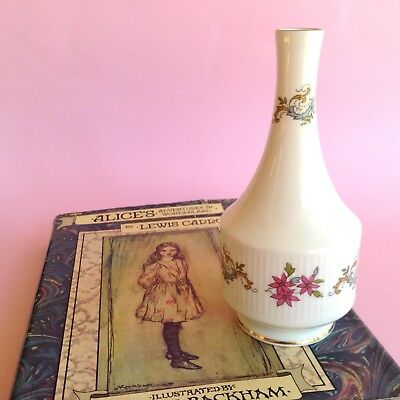 VINTAGE PARAGON 1950s STAFFORDSHIRE ENGLISH BONE CHINA MANDARIN BUD VASE