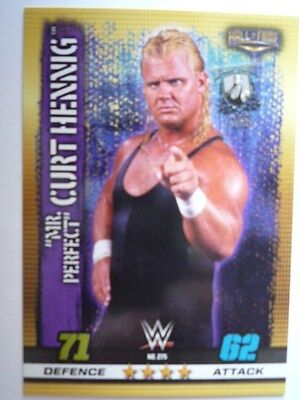 Slam Attax 10Th Edition Hall Of Fame Mr Perfect Curt Hennig Base Card Comb P&p