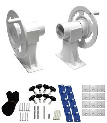 Solar Roller for Above-Ground Pool with hardware kit (tube not included)