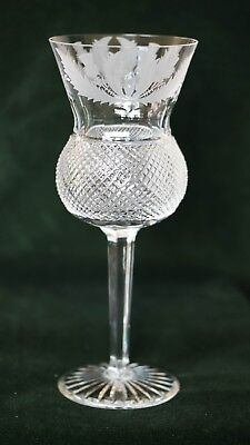 Edinburgh Crystal Thistle Pattern - Large Goblet 8 1/4""