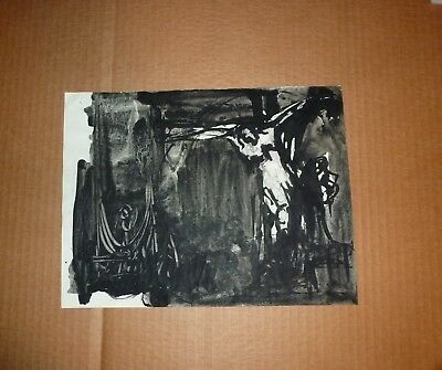 Original Ink Drawing by Listed Mid-Century Expressionist Artist Joachim Probst