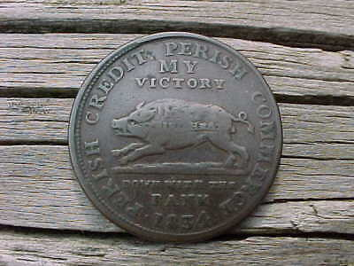 1834 Perish Credit,Commerce My Substitute for The US Bank Token
