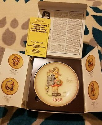 Goebel, M. J. Hummel 10th Annual Plate 1980, Hum 273, School Girl Original Box