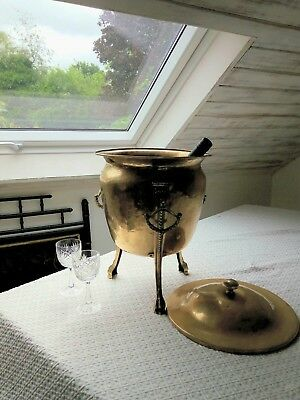 Vintage Antique Brass Ice Bucket For Wine Champagne / Coal. No reserve