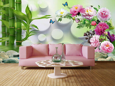 Colorful Chinese Rose 3D Full Wall Mural Photo Wallpaper Print Home Kids Decor