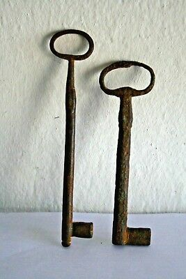 Antique Pair Of Keys Greek Doors About 1850