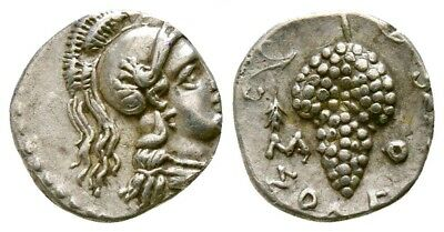 Silver obol, Cilicia. Soloi, circa 410-375 BC. Excellent piece of art!
