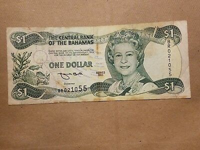 1996 The Central Bank of the Bahamas $1 One Dollar Note P 57 banknote bill