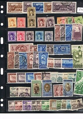 Egypt Stamps #577 Mixed Collection Of King Farouk M/mint And Used