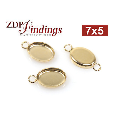 7x5mm Oval Gold Filled Bezel Cup (6pcs)