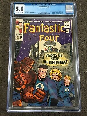 Fantastic Four #45 - CGC 5.0 - 1st App Of The Inhumans