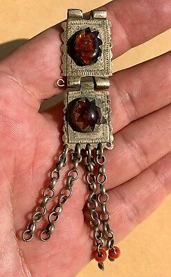 Post-Medieval Massive Silver Ornament With Decorative Stones. Very Nice Item!