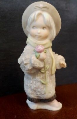 Darling 1990's Kim Anderson Figurine, Girl with flower