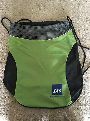 Vintage Scandinavian Airlines-SAS Drawstring Backpack/Sportpack