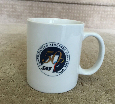 1996 Scandinavian Airlines-SAS 50th Anniversary Collectible Coffee Mug