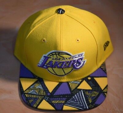 MITCHELL   NESS NBA Los Angeles Lakers Snapback Adjustable Hat Print play  geo -  17.00  8d4969293968