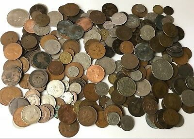 Large Job Lot of - 1.5KG - British - Assorted - Circulated - Mixed Coins