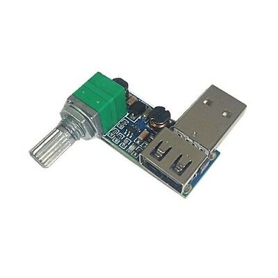 USB fan stepless speed controller regulator with switch speed Module