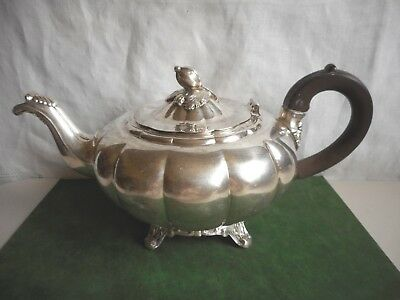 "Vintage Tea Pot Melon Sheffield Reproduction Community Silverplate 5 3/4"" Tall"