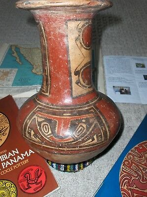 Pre-Colombian OLLA Cocle province, Panama Circa 600 AD.highly decorated