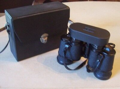 Vintage Sears Zoom Binoculars Model 473 w/ Case EX