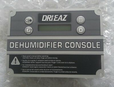 Dri-eaz 1200 2000 2400 evolution dehumidifier control panel 08-0259 264j S253