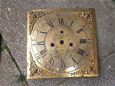 13 inch  LONGCASE GRANDFATHER CLOCK brass dial