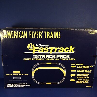 American Flyer Trains S-GAUGE OUTER PASSING LOOP ADD-ON TRACK PACK 6-49990 NEW!