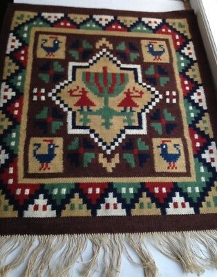 Antique  Handwoven Swedish Tapestry from Skåne mansion / Wool / Wall decor