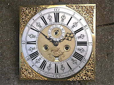 12 inch 8DAY c1730 LONGCASE   CLOCK dial + movement