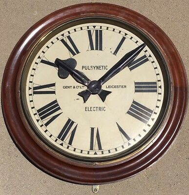 "Rare Huge Vintage Gent of Leicester Slave Clock- 24"" in diameter.non Working"