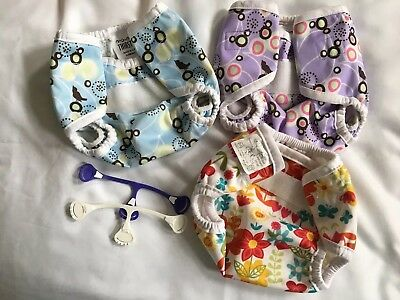 2 Thirsties Size extra-small diaper covers & 1 Bummis NB - EUC