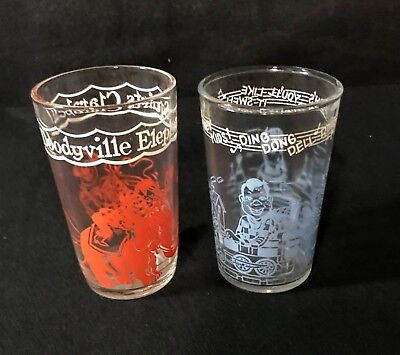 Vintage 1953 Welch's Howdy Doody Jelly Glasses - Set of Two