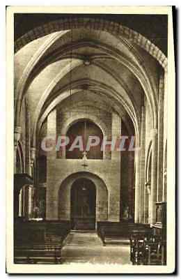 Vintage Postcard Morienval Oise Interior of the church the Platform Old Abbey c