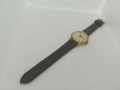 Lovely Vintage Gents Gold Plated Services 17J Mechanical Swiss Watch. New...