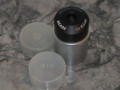 """Vintage Meade 10.5mm  Orthoscopic Eyepiece 1.25"""" made in Japan"""