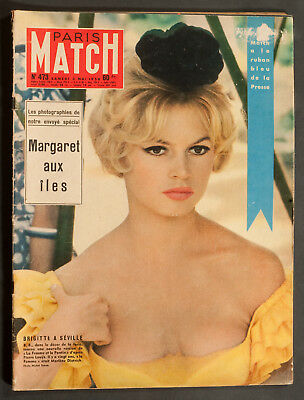 'paris-Match' French Vintage Magazine Brigitte Bardot Cover 3 May 1958