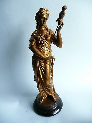 V. Large Antique 19th century Gilt Spelter Figure, French................ref.977