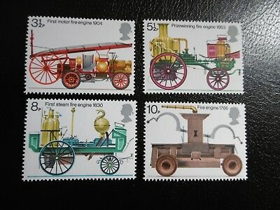 SG950-953 1974 Bicentenary of Fire Prevention Act. Mint Never Hinged Stamps.