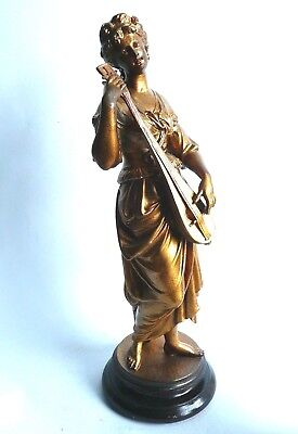 V. Large Antique 19th century Gilt Spelter Figure, French................ref.978