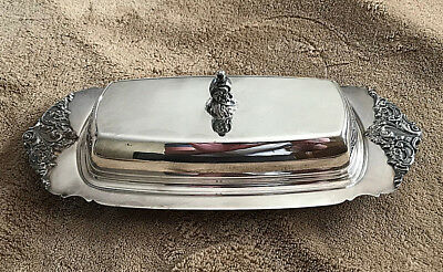 Vintage Baroque By Wallace #206 Silverplate Butter Dish Stamped