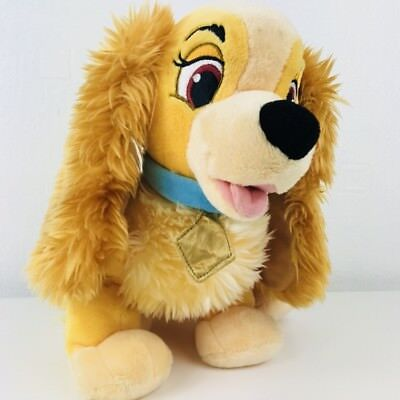 "DISNEY STORE EXCLUSIVE  Lady and the Tramp Plush Soft Toy Dog 14"" Stamped"