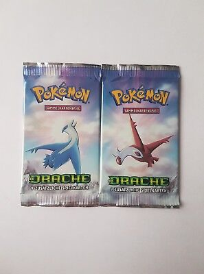 2x Pokemon Karten Booster EX Drache deutsch & ovp! RAR!