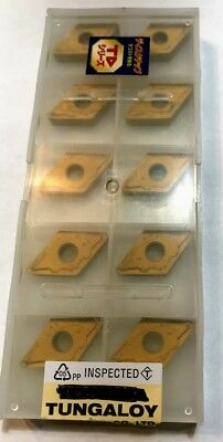 10 pcs NEW, UNOPENED TUNGALOY INSERTS DNMG433-AS TD905