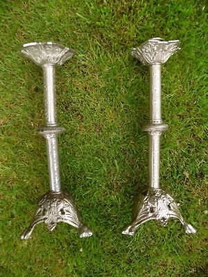 Pair Of Vintage French Church Candlesticks