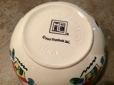 Mary Engelbreit Gaetano Pottery USA Large Home Mixing Bowl