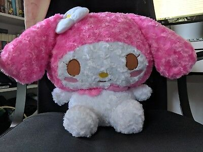 New My Melody Rose Soft Pink And White 36cm Big Sanrio FuRyu Japan Plush