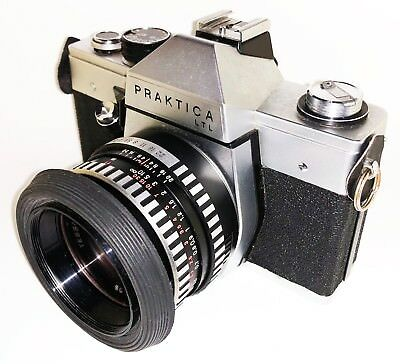 Camara PENTACON PRAKTICA LTL + Lente CARL ZEISS JENA DDR 2.8/50 Made in Germany